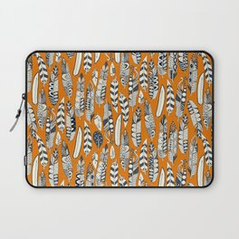 joyful feathers orange Laptop Sleeve
