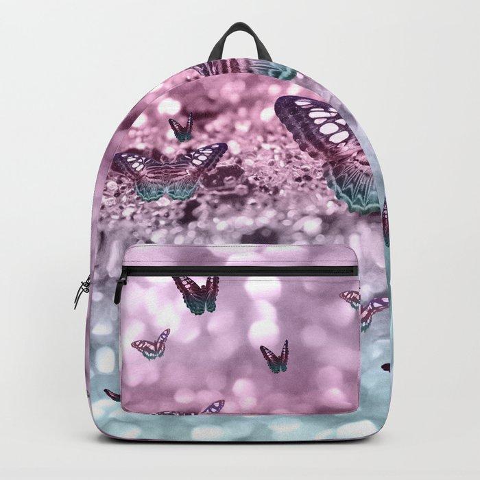 Pastel Unicorn Butterfly Glitter Dream #2 #shiny #decor #art #society6 Backpack