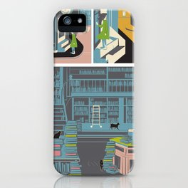 Bookstore cats iPhone Case
