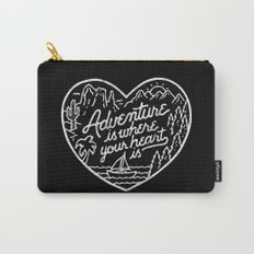 Adventure is where your heart is BW Carry-All Pouch