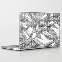 blueprint Laptop & iPad Skins featuring Blueprint - monochrome by Etch by Design