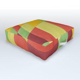Tropical fruit warp Outdoor Floor Cushion