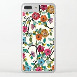 Fleurs Clear iPhone Case
