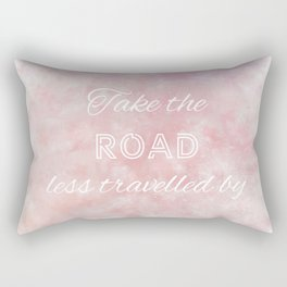 Take The Road Less Travelled By (white, red, violet) Rectangular Pillow