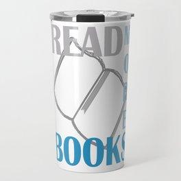 READ MORE BOOKS in blue Travel Mug