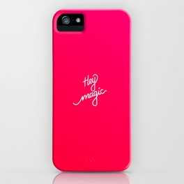 Hey magic   [gradient] iPhone Case