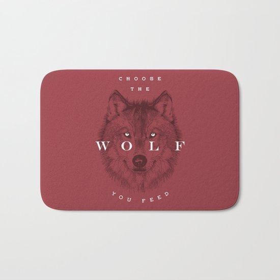 Choose the Wolf You Feed Bath Mat