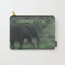 Young Elephant in Green Carry-All Pouch