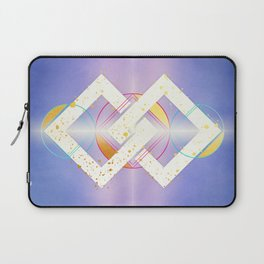 Linked Lilac Diamonds :: Floating Geometry Laptop Sleeve