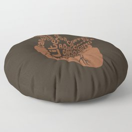 Coffee Lover Heart Floor Pillow