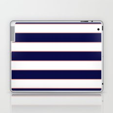 Double Stripes (Navy & Coral) Laptop & iPad Skin