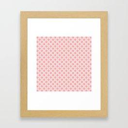 Pink & Orange Grapefruit Slice Pattern Framed Art Print