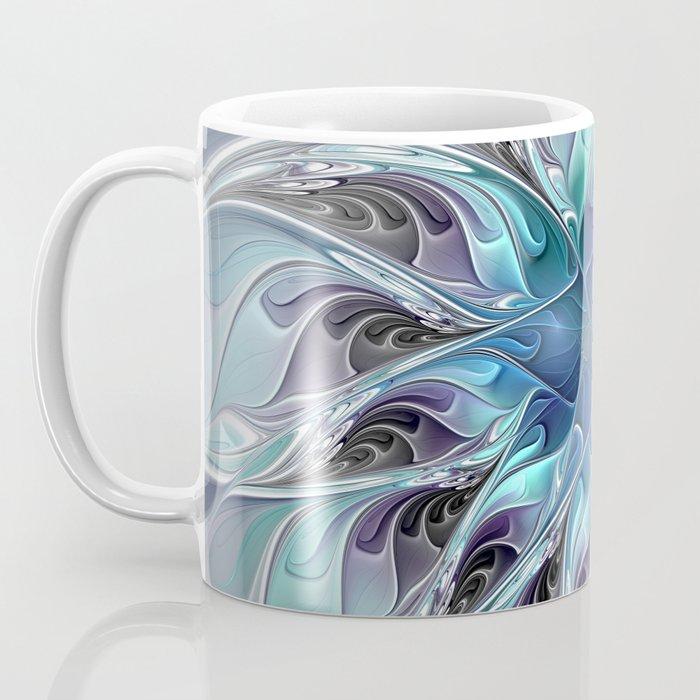 Flourish Abstract, Fantasy Flower Fractal Art Coffee Mug