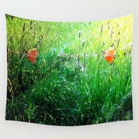 poppy Wall Tapestries featuring Poppy by Rose Etiennette