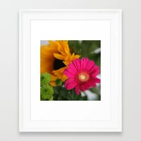 hot pink Framed Art Prints featuring hot pink by EnglishRose23
