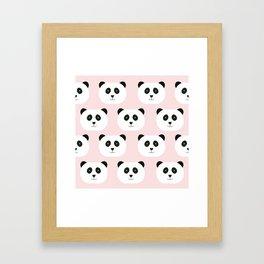 Panda Love -Pink Framed Art Print