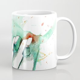 Watercolor Piano (Teal) Coffee Mug