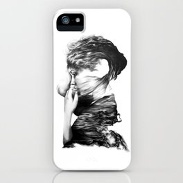 The Sea and the Rhythm // Illustration iPhone Case
