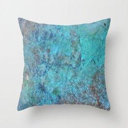 Patina Cast Iron rustic decor Throw Pillow