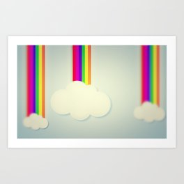 Yellowing Clouds Art Print