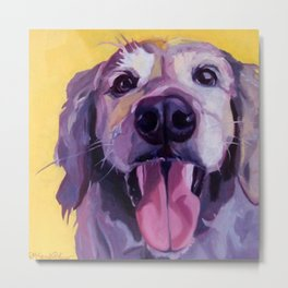 A Dog's Joy Golden Retriever Portrait Metal Print