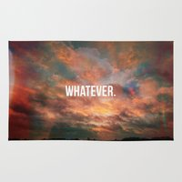 meme Area & Throw Rugs featuring Inspirational Photo Quote Meme by Lewis Wake