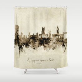 Kingston upon Hull England Skyline Shower Curtain