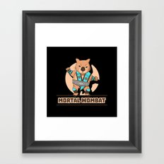 Mortal Wombat Framed Art Print