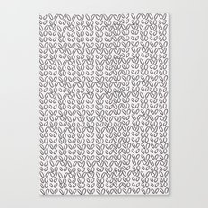 Knitting Knit Pattern - Doodle - Black and White Ink Canvas Print