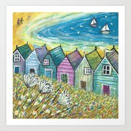 Breezy Beach Days Art Print
