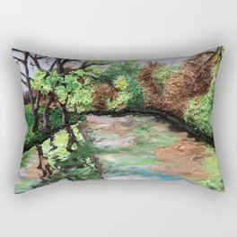Early Spring - polymer clay painting Rectangular Pillow