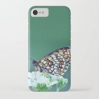 sofa iPhone & iPod Cases featuring flower sofa by LindaMarieAnson