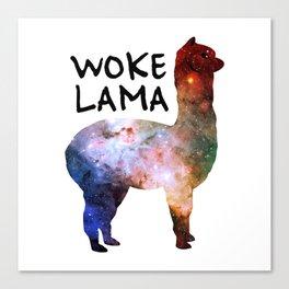 Woke Lama Canvas Print