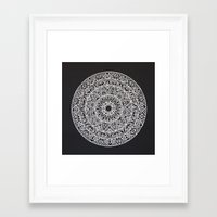 spiritual Framed Art Prints featuring Spiritual Mandala by msimona