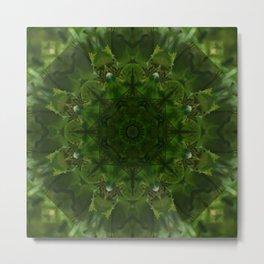 Dark Dandelion Reflection Metal Print