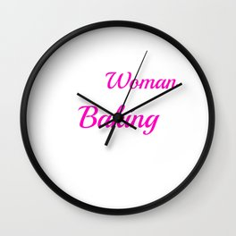 This woman loveBaking with her husband Wall Clock