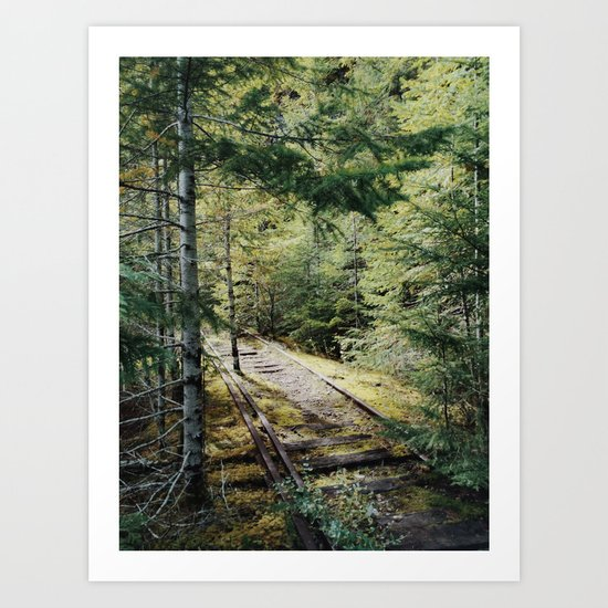 Abandoned Railroad Art Print