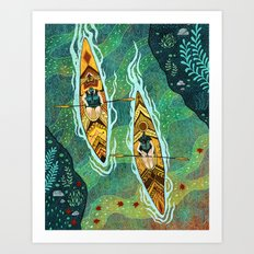 Kayaking Art Print