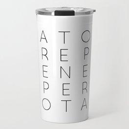 SATOR Square Typography Travel Mug