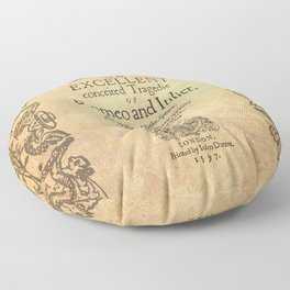 Shakespeare, Romeo and Juliet 1597 Floor Pillow