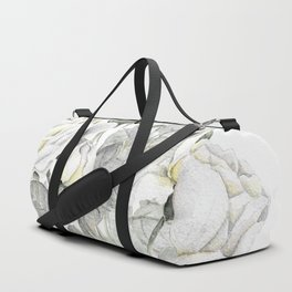 Bouquet of Yellow And Grey Roses Duffle Bag