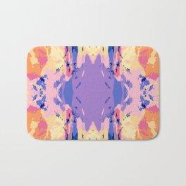 Abstract Colorful Ink Blot Rorschach Pattern Bath Mat