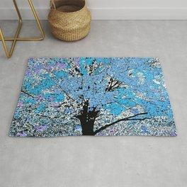 Trees Lilac Blue Rug