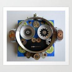 Space Monkey Bot Art Print