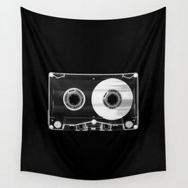 Black and White Retro 80's Cassette Vintage Eighties Technology Art Print Wall Decor from 1980's Wall Tapestry