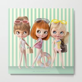 BEACH BLYTHE DOLL BY ERREGIRO Metal Print