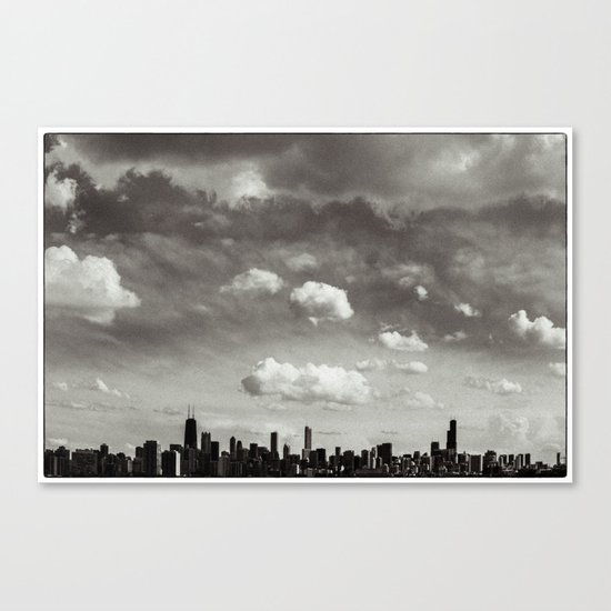 Chicago Skyline - Lone Cloud Canvas Print