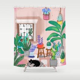 House Plants Garden Club Shower Curtain