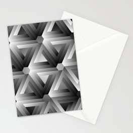 Monochrome penrose triangles Stationery Cards
