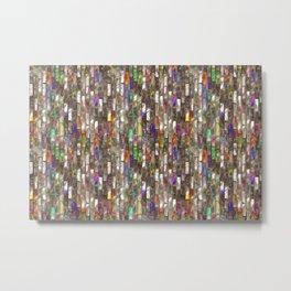 Rainbow Abalone Glass Tile Texture Metal Print